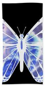 Watercolor Butterfly On Black V Beach Towel
