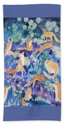 Watercolor - Fox And Firefly Design Beach Towel