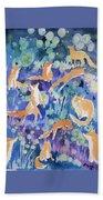 Watercolor - Fox And Firefly Design Beach Sheet