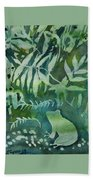 Watercolor - Tree Frog Design Beach Towel by Cascade Colors