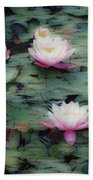 Waterlily Impressions Beach Towel
