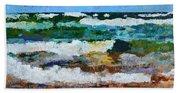 Waves Crash - Painting Version Beach Towel