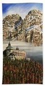 Werfen Austria Castle In The Clouds Beach Towel