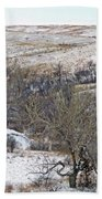 Western Edge Winter Hills Beach Towel