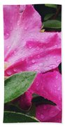 Wet Blooms Beach Towel
