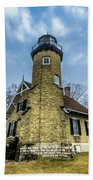 White River Lighthouse Beach Towel
