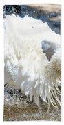 White Stork Fishing Beach Towel