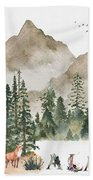 Wild Alaska Travel Poster Beach Towel by Celestial Images