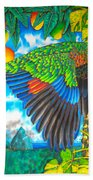 Wild Parrot Beach Towel