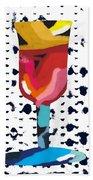 Wine And Matzo- Art By Linda Woods Beach Sheet