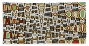 Wine Corks At An Angle Abstract Beach Towel