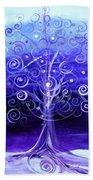Winter Tree One Beach Towel