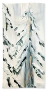 Winter Trees #4 Beach Towel by Maria Langgle