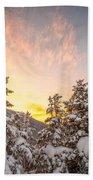 Winter's Last Light, Beach Towel by Jeff Sinon