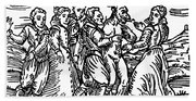 Witches Dancing With The Devil, Illustration From Compendium Maleficarum Beach Sheet