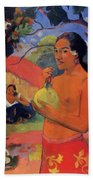 Woman Holding A Fruit 1893 Beach Towel