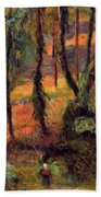 Wooded Path 1884 Beach Towel