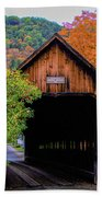 Woodstock Middle Bridge In October Beach Towel by Jeff Folger