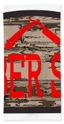 Worn Barber Shop Wooden Store Sign Beach Sheet