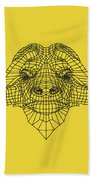 Yellow Buffalo Beach Towel