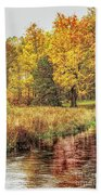 Yellow Forest Beach Towel