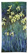 Yellow Irises - Digital Remastered Edition Beach Towel