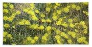 Yellow Meadow Beach Towel
