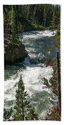 Yellowstone Rapids Beach Towel