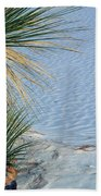Yucca Plant In Rippled Sand Dunes In White Sands National Monument, New Mexico - Newm500 00113 Beach Towel