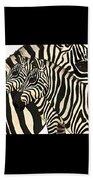 Z Is For Zebras Beach Towel