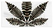 Zebra Pattern Marijuana Leaf 2 Beach Towel