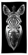 Zebra's Face Beach Sheet