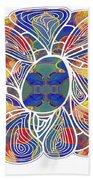 Zen Flower Abstract Meditation Digital Mixed Media Art By Omaste Witkowski Beach Towel by Omaste Witkowski