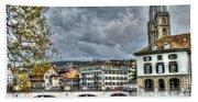 Zurich Switzerland Beach Sheet