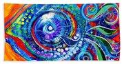 Colorful Comeback Fish Beach Towel