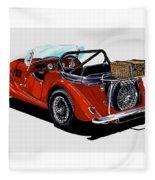 Morgan 4 Plus 4 1961 Fleece Blanket