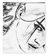 # 9 Adriana Lima Portrait. Fleece Blanket