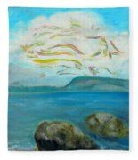A Cloud Over The Sea Fleece Blanket