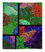 Abstract Fusion 86 Fleece Blanket