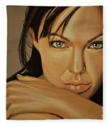 Angelina Jolie 2 Fleece Blanket