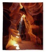 Antelope Canyon Ray Of Hope Fleece Blanket