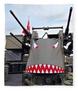 Anti-aircraft Guns Fleece Blanket