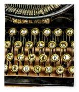 Antique Keyboard Fleece Blanket