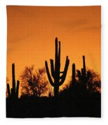 Arizona Sagurao Sunset Fleece Blanket