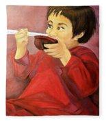Asian  Doll Fleece Blanket
