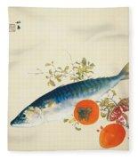Autumn Fattens Fish And Ripens Wild Fruits Fleece Blanket