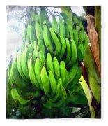 Banana Plants Fleece Blanket