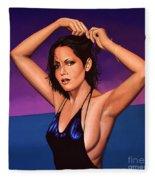Barbara Carrera Painting Fleece Blanket