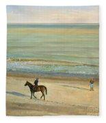 Beach Dialogue Dunwich Fleece Blanket