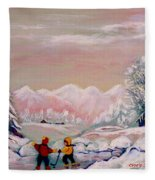 Beautiful Winter Fairytale Fleece Blanket